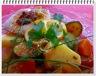 Tajine de cabillaud aux légumes et citron confit, safran et coriandre