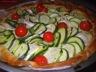 Tarte courgette-chèvre-tomate