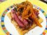 Tarte fine au magret de canard et carottes