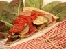 Tatin de tomates courgettes et bacon au thym
