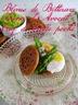 Amuse-bouches: blinis de betterave, crème d'avocat & oeuf de caille poché, asperges & saumon mariné