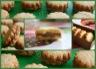 Biscuits sablés à la noix de coco fourrés de pralinoise