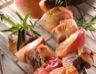 Brochettes de canard aux pêches