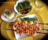 Brochettes de crevettes et ananas grillés exquis