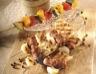 Brochettes mixtes chipolatas et poulet mariné