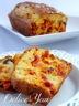 Cake chorizo, tomates séchées et olives noires
