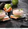 Cappuccino de surimi à l'avocat et mousse de pomme verte au gingembre
