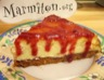 Cheese Cake au coulis de framboises