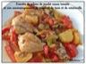 Cocotte de pilons de poulet, tomate, pomme de terre, ratatouille
