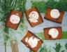 Coeur de chèvre sur canapés de pain d'épices