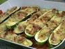 Légumes: Courgettes farcies au fromage et au jambon