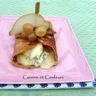 Crêpe farcie aux poires et fromage bleu