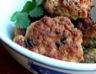 Croquettes de porc au gingembre sauce yaourt et ciboulette