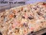 Crumble de poisson / noix de st jacques à la sauce hollandaise aux fines herbes