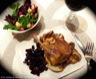 Cuisses de canard confites, sauce aux champignons minute