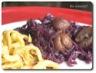 Emincé de chou-rouge aux marrons et haut de cuisse de dinde