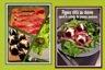 Figues rôties au chèvre frais speck et salade de jeunes pousses