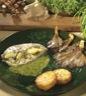 Plats de volailles: Filet de poulet farci aux asperges sauce cressonnette