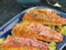 Filets de rougets rôtis au fenouil et beurre au basilic