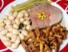 Plat moutons et agneaux: Gigot d'agneau de lait aux petites girolles