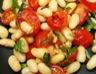Haricots plats (cocos) aux tomates cerises