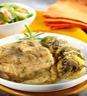 Plat principal: Jarrets de veau gratin de pommes de terre aux champignons