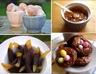 Mousse de pomme, noix et caramel au beurre salé