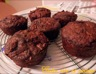 Muffins pommes, flocons d'avoine et poudre de caroube