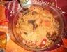 Nouilles sautées poulet poivron carotte et radis