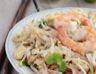 Nouilles sautées au soja et aux crevettes