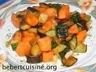 Légumes: Patate douce et courgette à la poêle