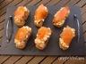 Pintxos au surimi et au saumon fumé