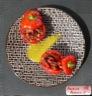 Poivrons farcis au riz rouge de camargue, chorizo, tomate séchée