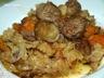 Potee au chou  /  potimarron et boulettes de boeuf (mijoteuse)