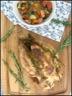 Poulet grillé a la moutarde et petits légumes