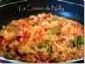 Riz espagnol (chorizo, crevettes, poivron rouge, haricots plats)