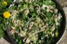 Riz sauté au poulet, épinards et fenouil
