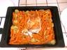 Rôti de porc aux carottes et pommes de terre