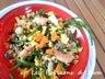 Salade composée : lentilles vertes du puy en velay, quinoa, salicornes