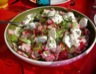Salade concombre radis chèvre