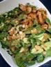 Salade crevettes et avocat, vinaigrette au miso