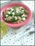 Salade de boulgour au poulet et légumes verts