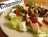 Salade de chèvre aux amandes et poivrons marinés