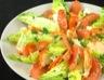 Salade de coeurs de laitue et pamplemousse au homard