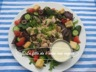 Salade de dinde avec vinaigrette balsamique crémeuse à la moutarde de dijon
