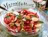 Salade de fraises kiwis bananes citron