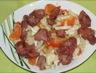 Salade de gésiers de canard, endive et clémentine corse