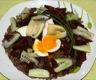 Salade de lentilles vertes, betterave, concombre