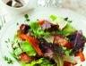 Salade de mesclun à la courge confite et au parmesan