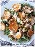 Salade de patates douces grillées et de pois chiches
